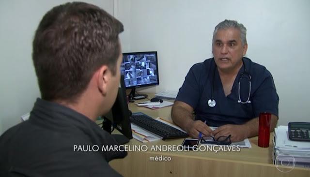 Médico, ex-prefeito de Campina da Lagoa, no Fantástico da Rede Globo