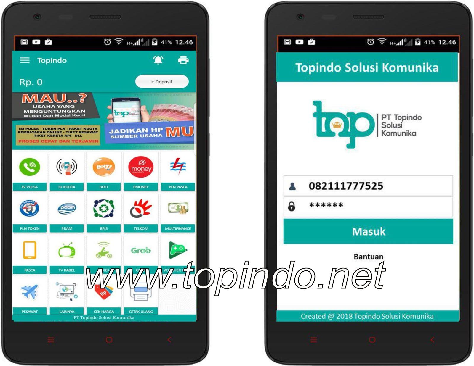 aplikasi topindo, download aplikasi topindo solusi komunika, apk android topindo