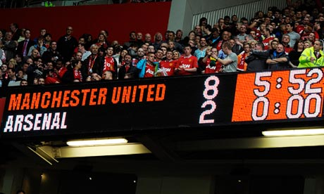 manchester united vs arsenal 8-2 photo