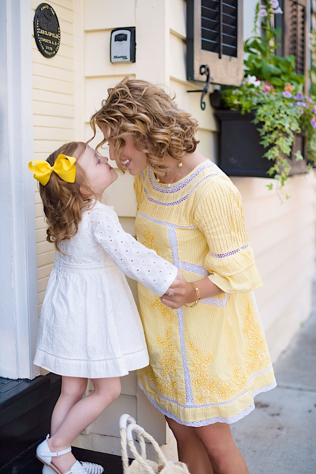 Mommy and Me Yellow in Charleston - Something Delightful Blog