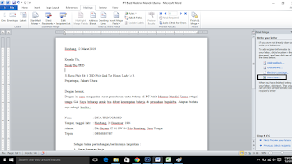 Cara Mailing Surat menggunakan Ms. Word dan Ms. Excel
