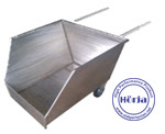 Cradle Stainless Steel Trolley Limbah Potongan Ikan dll