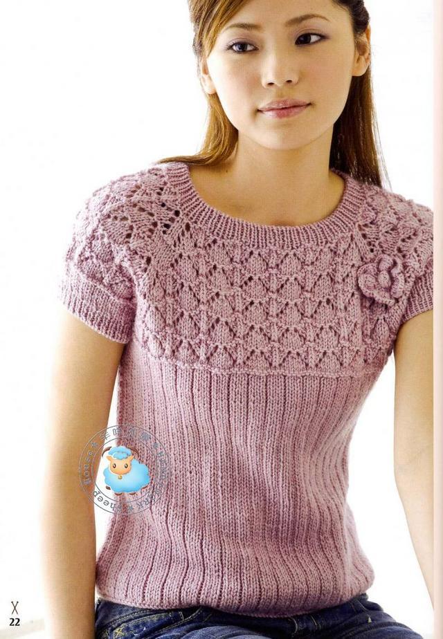 แบบเสื้อ นิตติ้ง แขนสั้น | Pattern Knitting