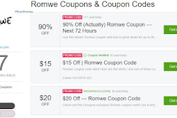 Romwe Coupon Code 2018 Working New