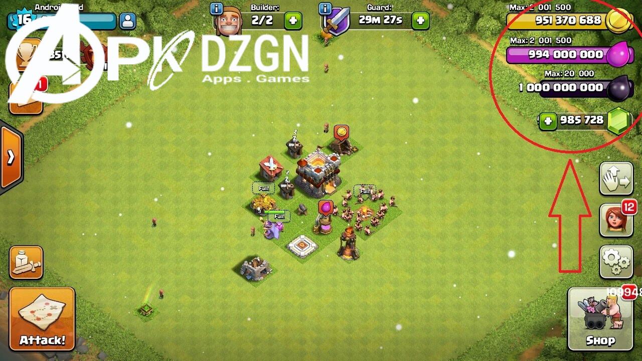 Clash of Clans Mod Apk v9 105 9 - ApkDzgn
