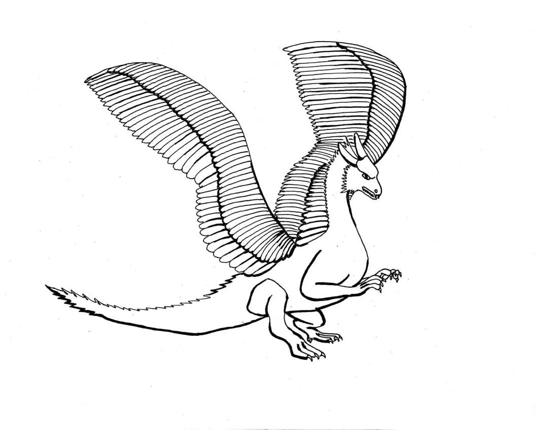 dragon coloring pages realistic girls - photo#24