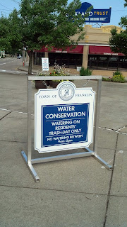 annual water conservation for Franklin