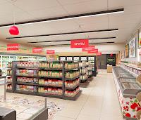 Дизайн магазина супермаркета продуктовый Брусника вкусника Екатеринбург Dulisov design supermarket студия интерьер