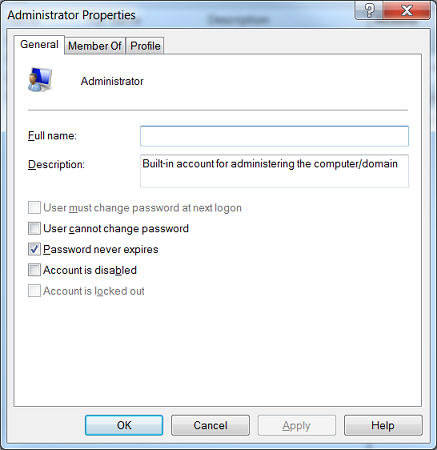 Learn how to set password not to expire from command line or GUI