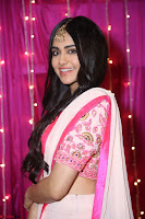 Adaa Sharma in White Pink Saree at Zee Telugu Apsara Awards 2017 38.JPG