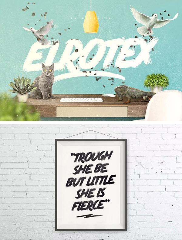 Download 22 Font Terbaru Gratis Edisi Mei 2016 - Elrotex Brush Font