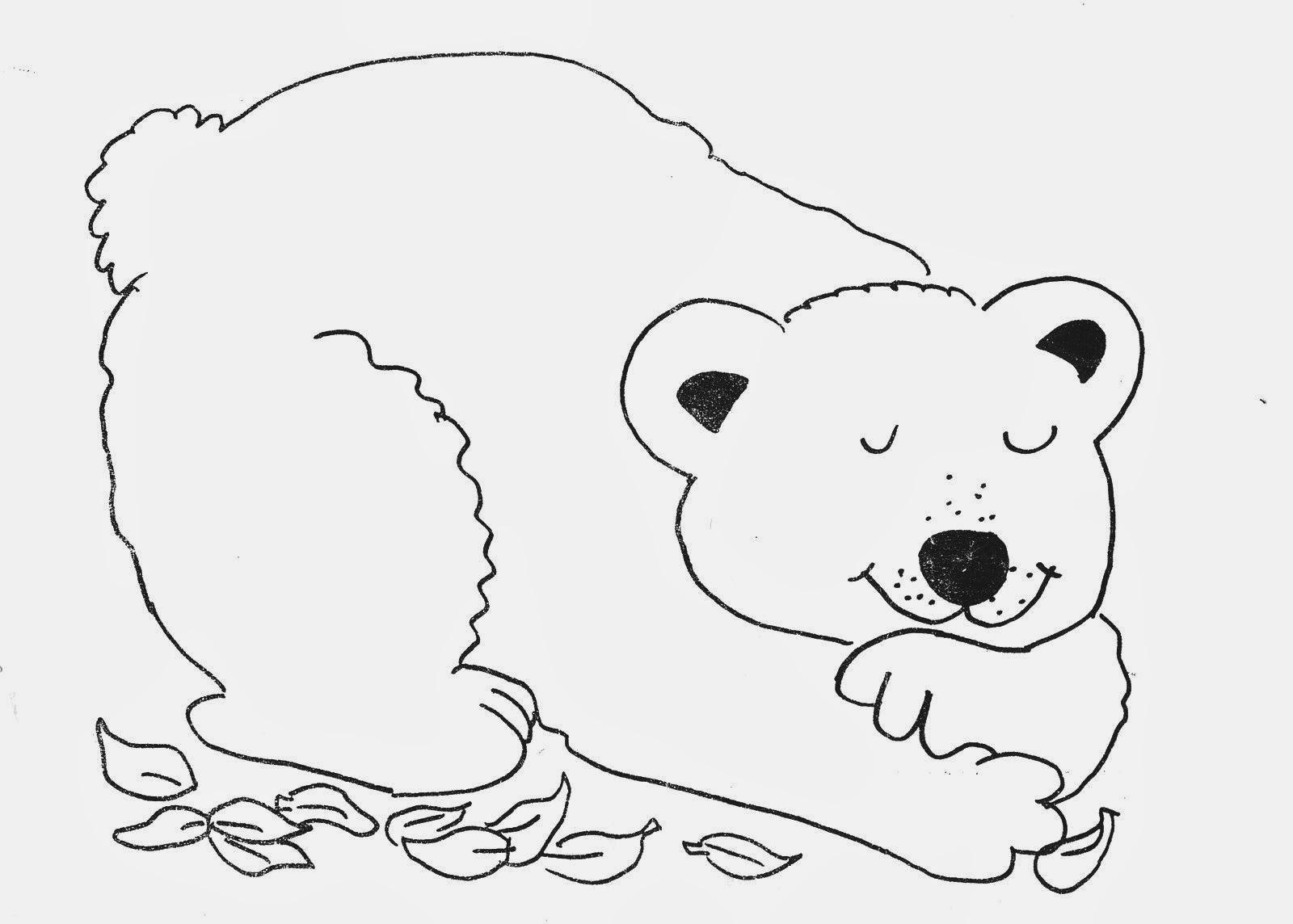 Stampa e colora orso for Masha e orso stampa e colora