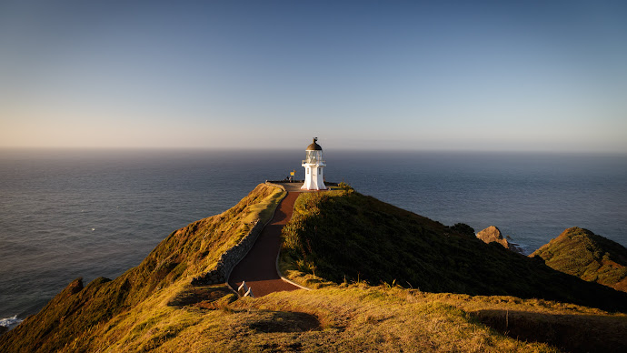 Wallpaper: Cape Reinga. New Zealand. Landscape. Lighthouse
