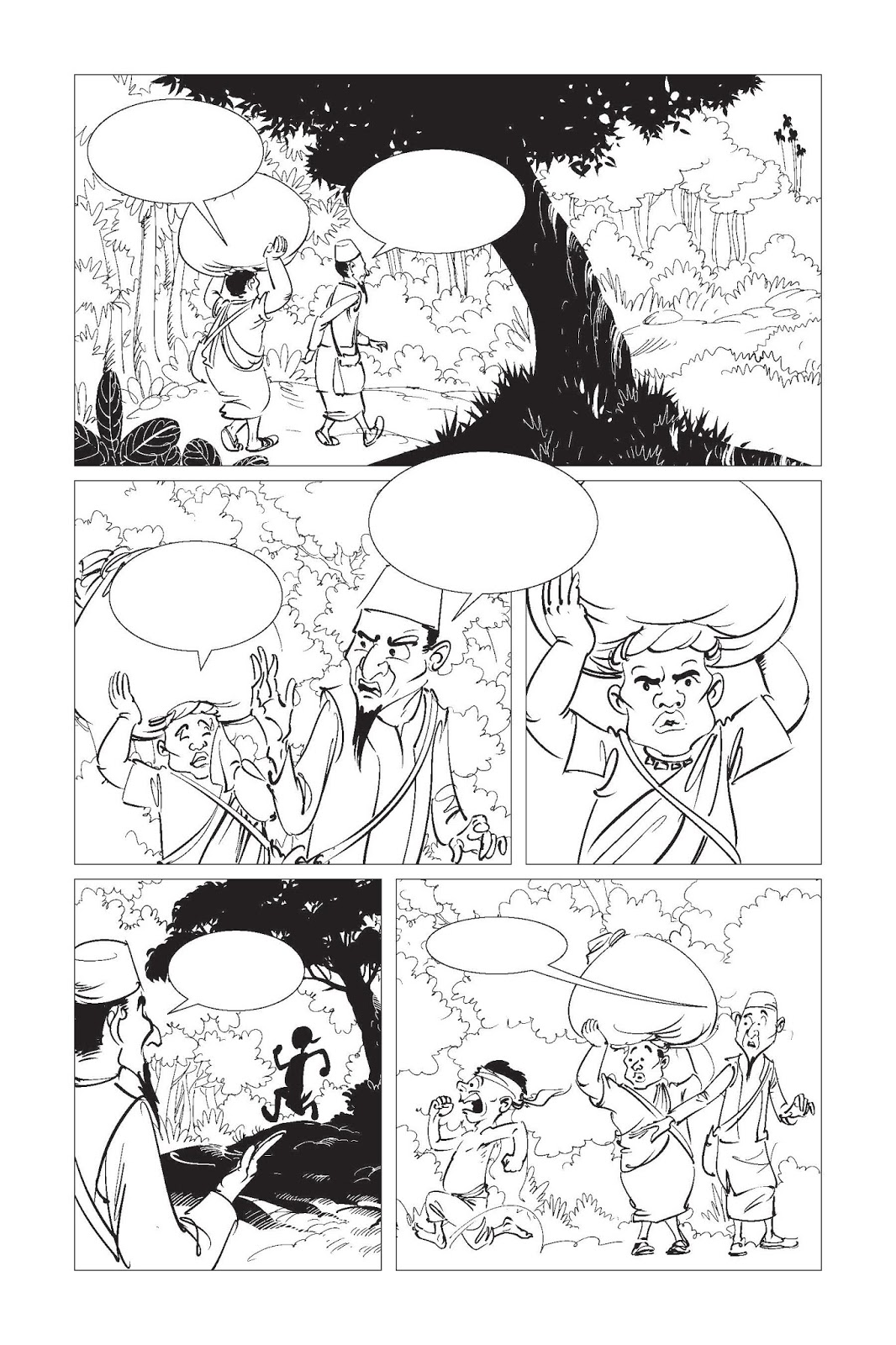 funny comics graphic novel page ink illustration