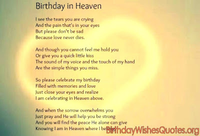 Birthday In Heaven Poem