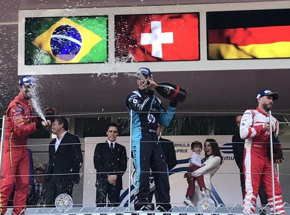 Prince Albert, Louis Ducruet, Charlotte Casiraghi and her son Raphael Elmaleh attended the Monaco Formula E Grand Prix