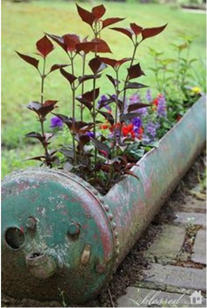 Pot tanaman dari bekas tabung mesin pemanas air
