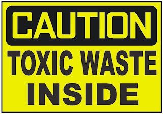 Simbol peringatan limbah B3 beracun
