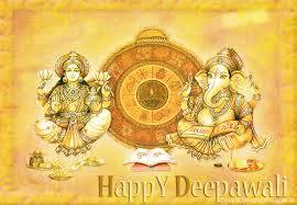 Happy Diwali Lakshmi Ganesha Wallpaper HD