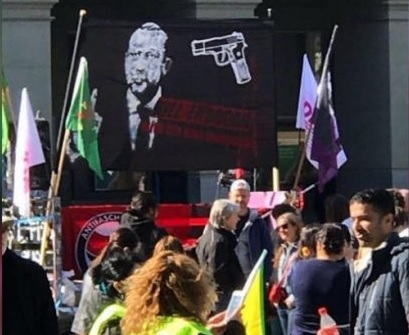 """Kill Erdogan"" - Kurdish protest in Bern"