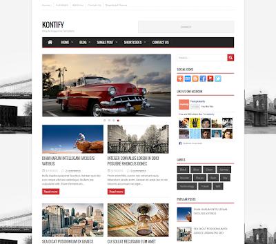 Kontify Free Blogger Template