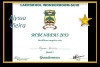 Baie geluk aan Alyssa Vieira, aangewys as die Graad 3 WENNER by L/s Wonderboom-Suid met die aanbieding van haar redenaarstoespraak onder die ATKV tema SPEELGOED