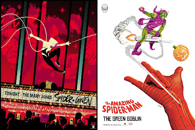 New Grey Matter Art x Marvel Spider-Man Screen Prints Spider-Gwen by Raid71 & Green Goblin by Doaly