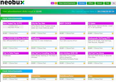 Dapat Uang Online dari Klik Iklan dan Kerja Task Mini Job di Neobux