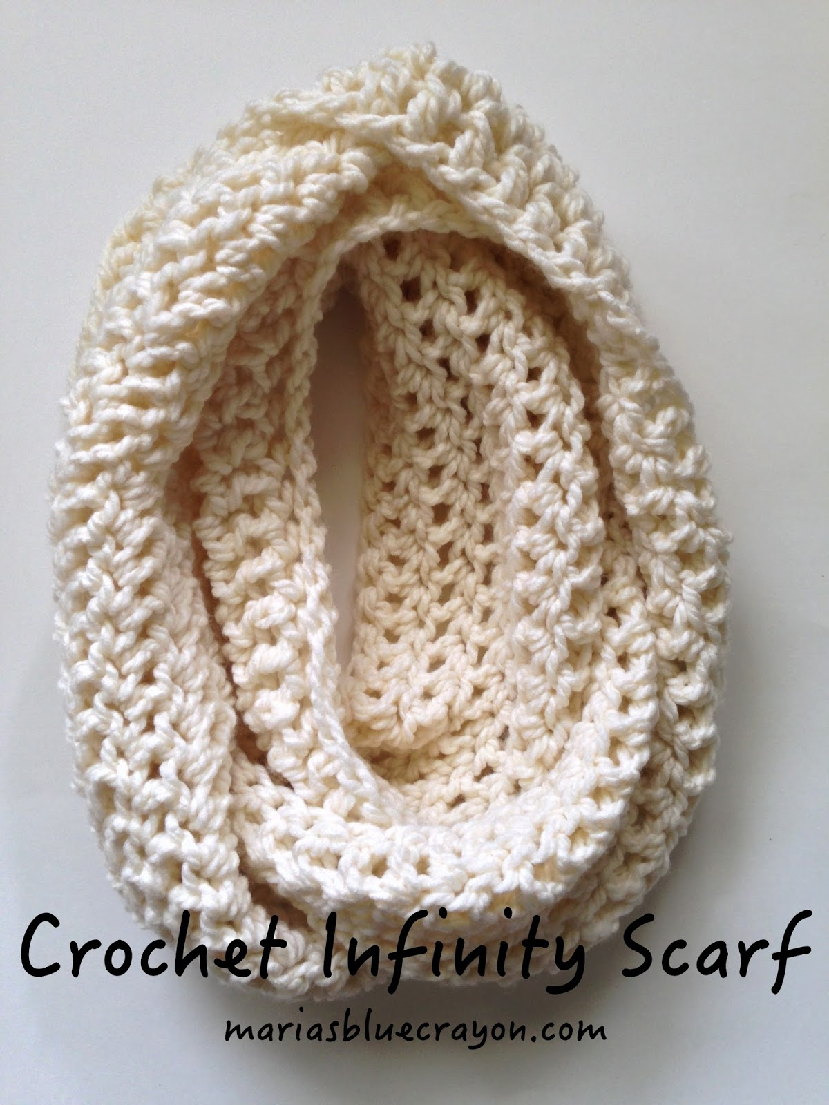 how to make an infinity scarf out of yarn