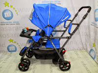 Kereta Bayi Pliko PK-BS2198 Duo Rider - 2 Kursi untuk Kakak dan Adik