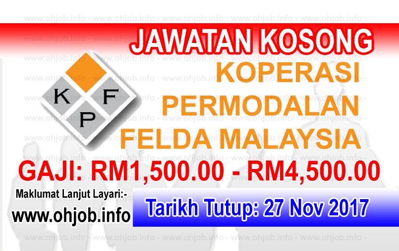 Jawatan Kerja Kosong Koperasi Permodalan FELDA Malaysia Berhad logo www.ohjob.info november 2017