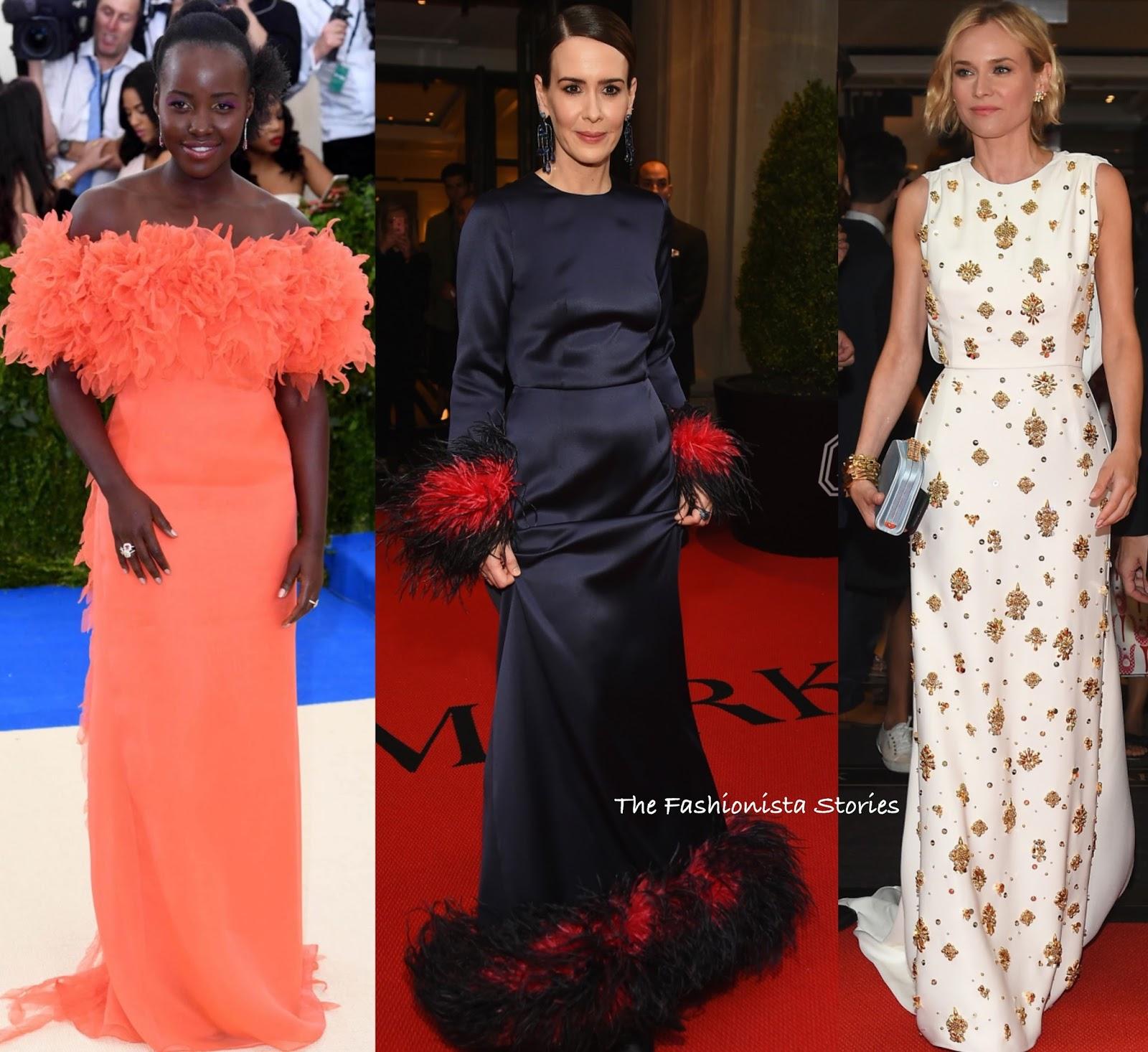 Lupita Nyong o, Sarah Paulson   Diane Kruger in Prada at the 2017 MET Gala 10b10755eff
