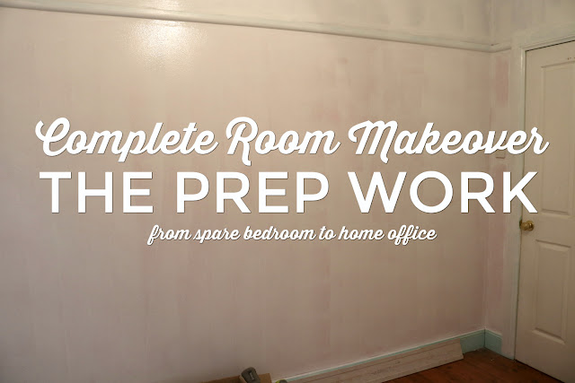 Complete Room Makeover - From Spare Bedroom to Home Office - Before Photos 4