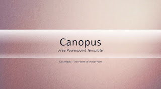 Template Powerpoint Keren Canopus by Jun Akizaki
