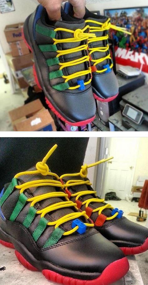 "Here is a look at a pair of Air Jordan 11 Low XI ""LEGO"" Custom Sneaker from  Kickassokusom sneakers  9ed25bf2b"
