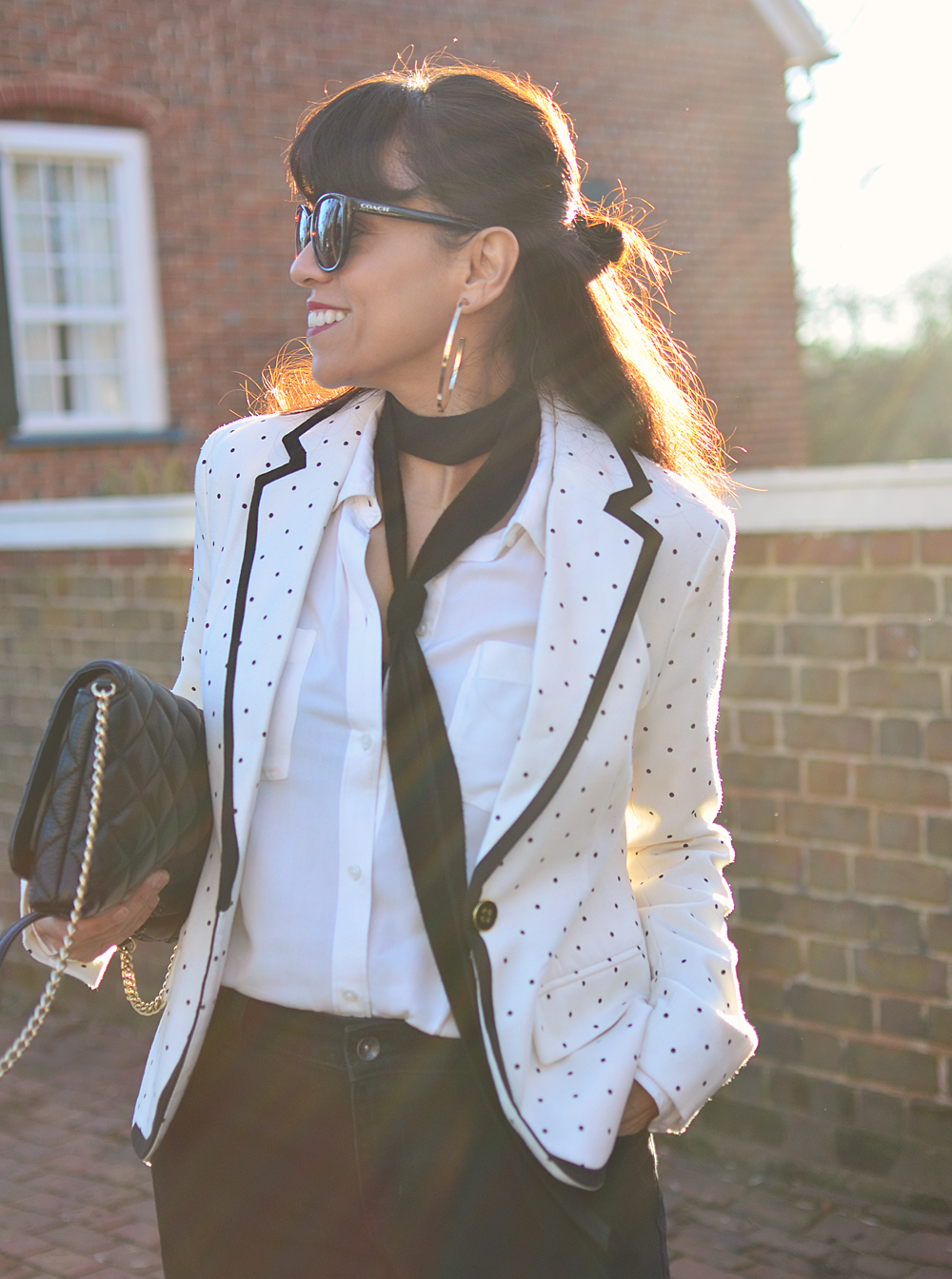 Piped blazer street style