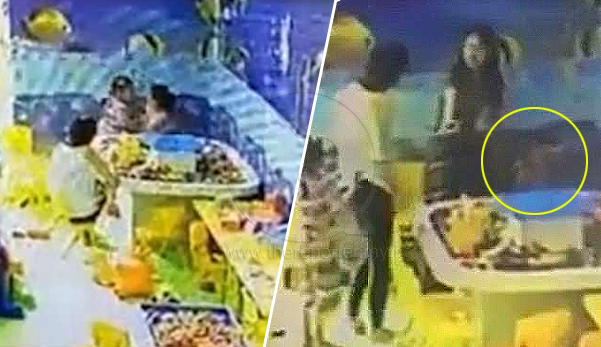 (Video) Wanita tampar budak 4 tahun yang berebut mainan dengan anaknya