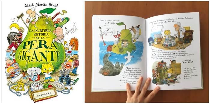 Libro ilustrado recomendado +8 edad La increíble historia pera gigante