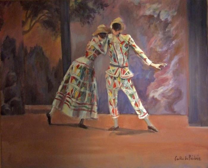 Театральные картины. Caroline de Piedoue