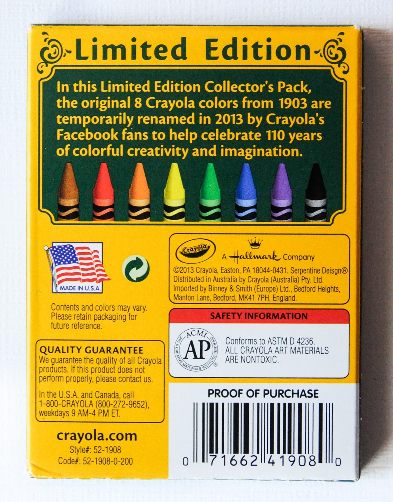 facebook limited edition gold medal crayons what s inside the box