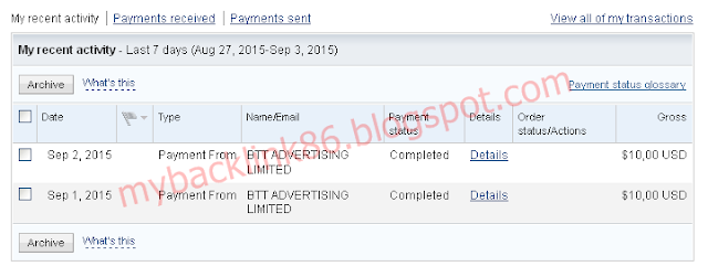 Payment Proof Shared2earn