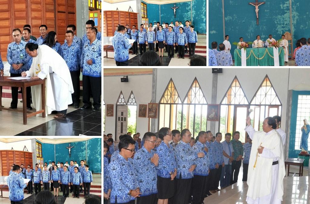 Bupati Kukuhkan Pengurus Pesparani Katolik Sekadau, Iwan Karantika Jabat Ketua Umum