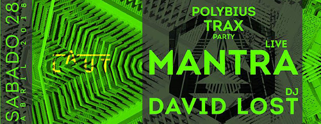 POLYBIUS TRAX ft. MANTRA live _ DAVID LOST / Laut, BCN [28Abr2018]