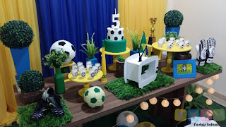 Decoração festa infantil Seleção Brasileira Porto Alegre