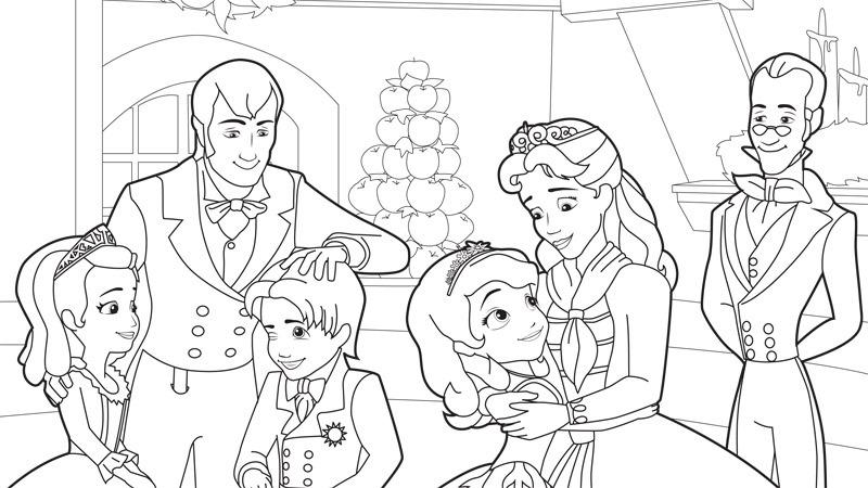 Desenhos Da Princesa Sofia Para Colorir