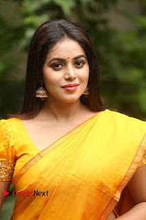 Actress Poorna Pictures in Saree at Avanthika Movie Opening  0007