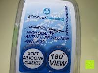 Eigenschaften: »Picco« Kinder-Schwimmbrille, 100% UV-Schutz + Antibeschlag. Starkes Silikonband + stabile Box. TOP-MARKEN-QUALITÄT! Große Farbauswahl.