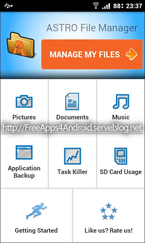 Free Apps 4 Android: ASTRO File Manager / Browser Pro v3