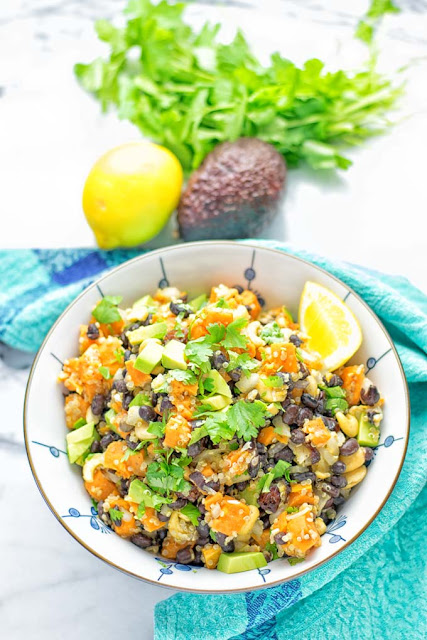 CITRUS QUINOA SWEET POTATO SALAD #salad #healthy#vegetarian