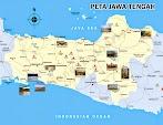 Peta Jawa Tengah lengkap dengan daftar 35 kabupaten dan kota